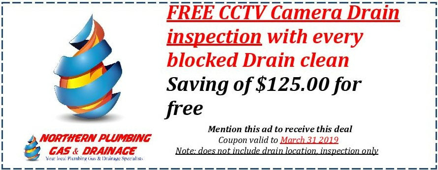 Blocked drain coupon